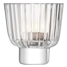 LSA Pleat Tea Light Holder - Clear
