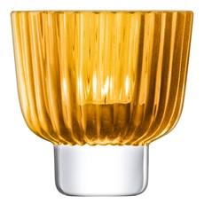 LSA Pleat Tea Light Holder - Amber