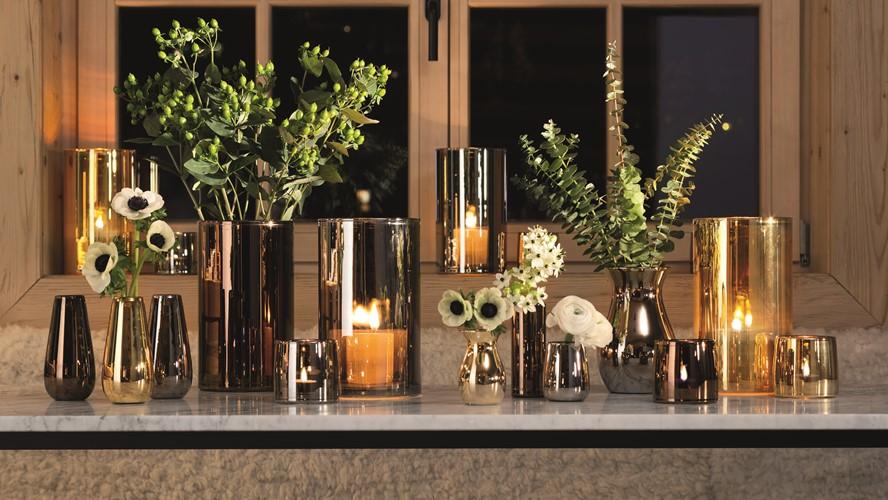 LSA Light Tea Light Holder Metallic - Copper