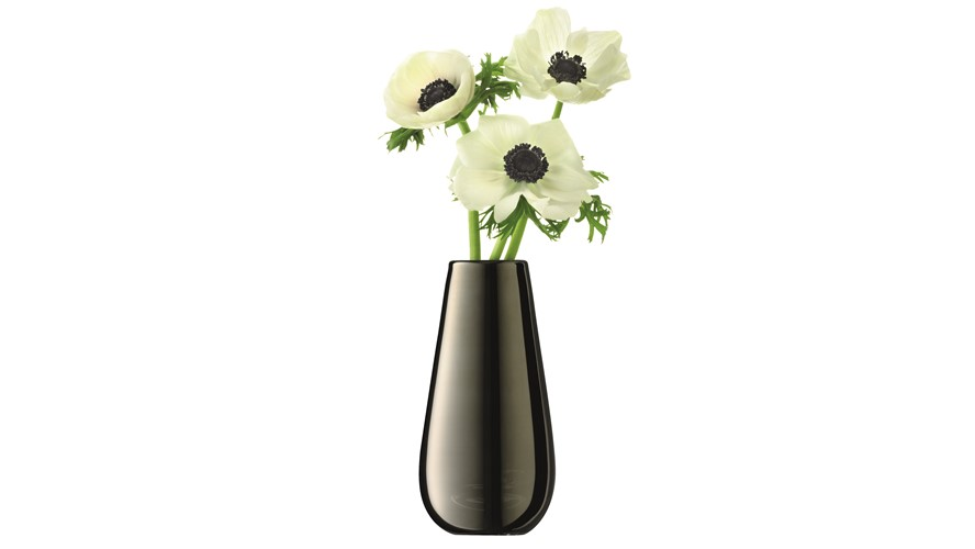 LSA Metallic Bud Vase - Platinum
