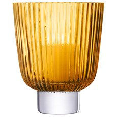 LSA Pleat Storm Lantern - Amber