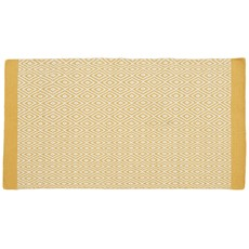 Monochrome 100% Wool Rug - Mustard