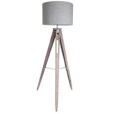 Herringbone Tripod Floor Lamp - Grey