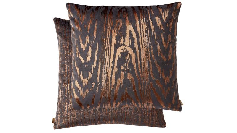Kai Metallic Square Cushion - Copper