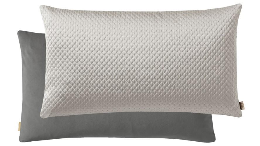 Kai Quilted Rectangular Cushion - Silver
