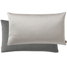 Kai Quilted Rectangular Cushion - Silver