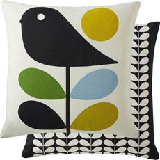 Orla Kiely Early Bird Square Cushion - Duck Egg