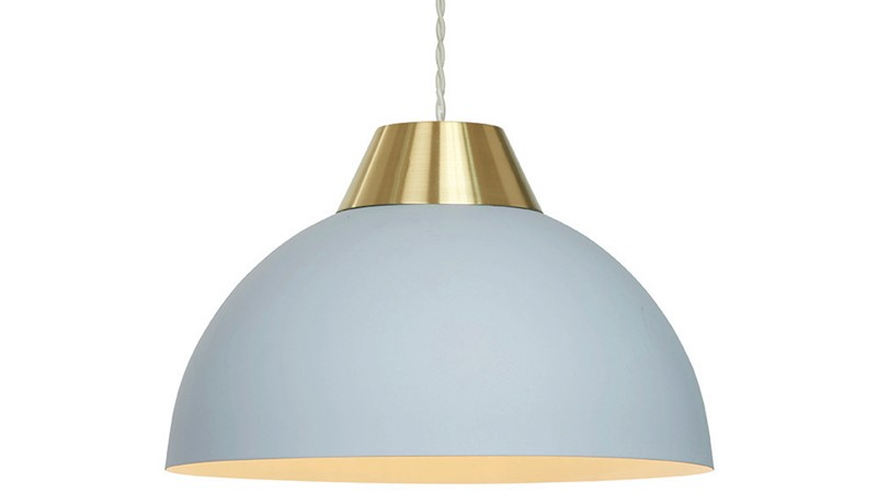 Jasper Pendant Light Shade - Grey & Gold