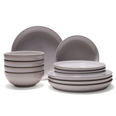 Denby Intro Stone 12 Piece Dinner Set - White