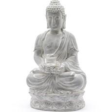 Concrete Buddha Tealight Holder - Grey