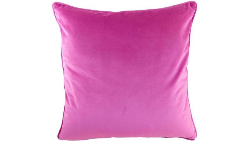 Royal Velvet Square Cushion - Fuchsia