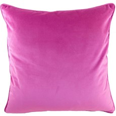 Royal Velvet Square Cushion - Fuchsia