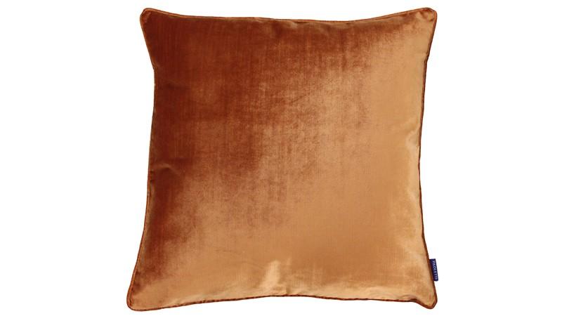 Luxe Velvet Square Cushion - Rust