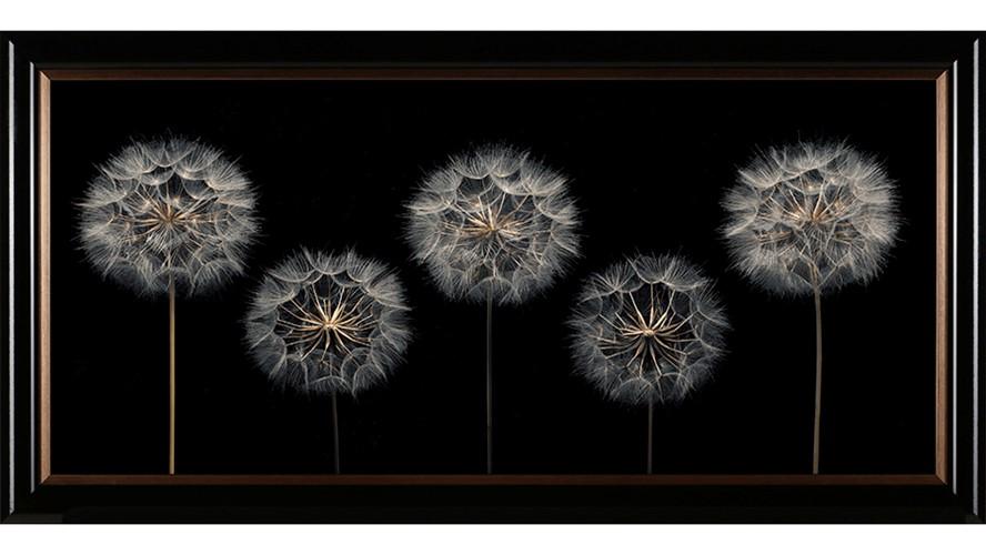 Clock Flowers Framed Print