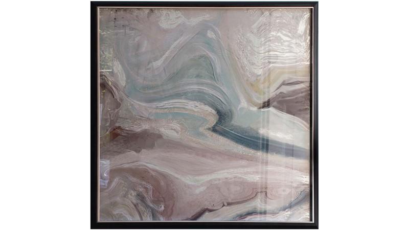 Crystal Fluid Abstract Framed Print