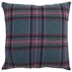 Bronte Glen Derry Large Square Cushion - Teal