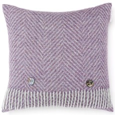 Bronte Herringbone Cushion - Bright Heather
