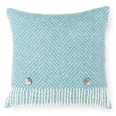 Bronte Herringbone Cushion - Bright Jade