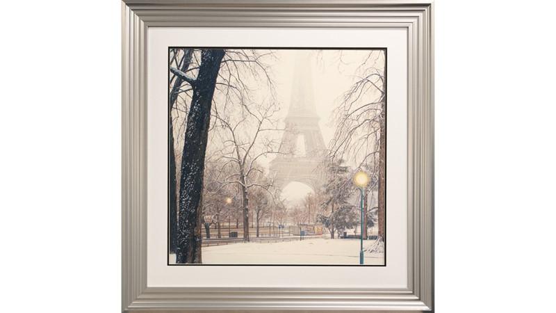 Foggy Day In Paris Framed Print