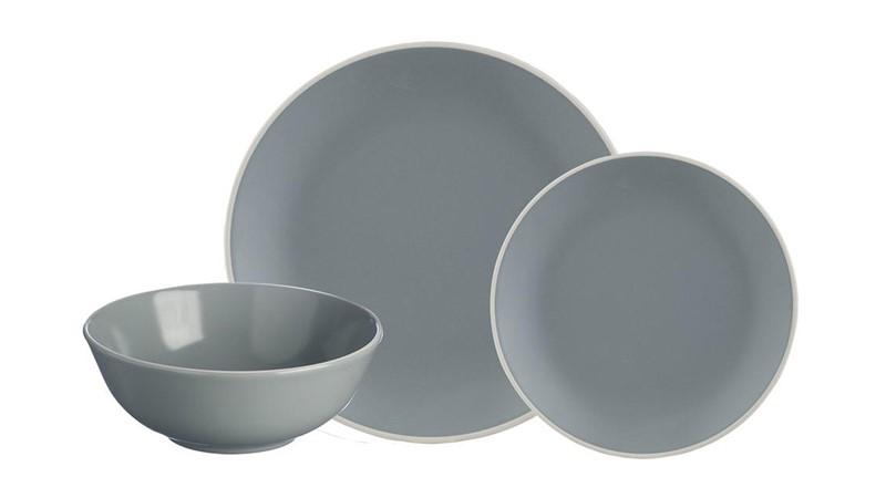 Mason Cash Classic Collection 12 Piece Dinner Set - Grey