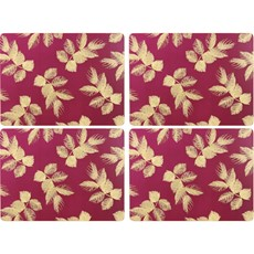 Sara Miller Etch Leaves Placemats Pink