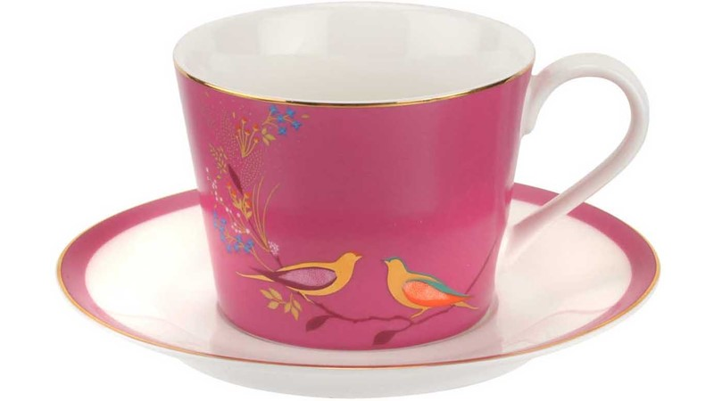 Sara Miller Chelsea Tea Cup & Saucer Pink