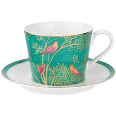 Sara Miller Chelsea Tea Cup & Saucer Green