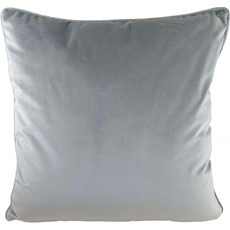 Royal Velvet Square Cushion - Light Grey