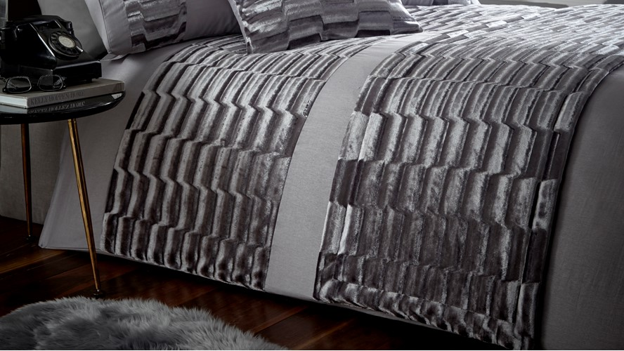 Murray Quilted Runner - Stone Grey
