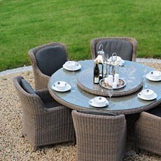 4 Seasons Brighton 6 Seat Garden Dining Set