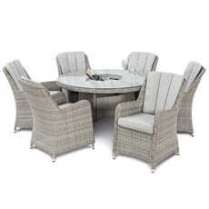 Eden 6 Seat Round Garden Dining Set
