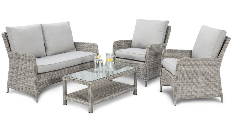 Eden High Back Sofa Garden Set ... - Eden High Back Sofa Garden Set Sterling Furniture