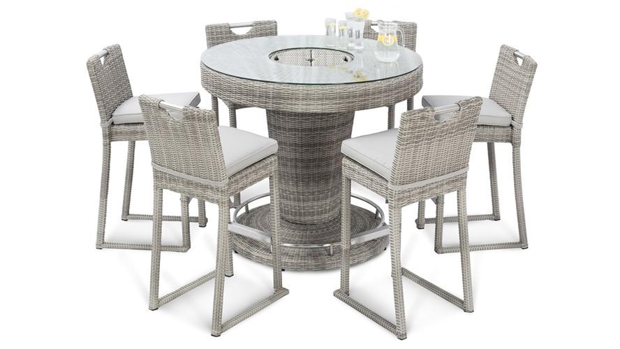Eden 6 Seat Round Garden Bar Set