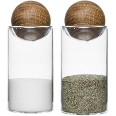 Oval Oak Salt & Pepper Set