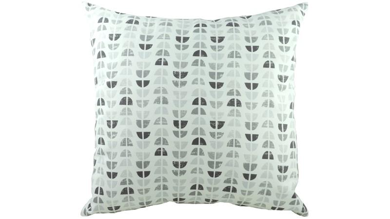 Nordic Geo Square Cushion - Grey
