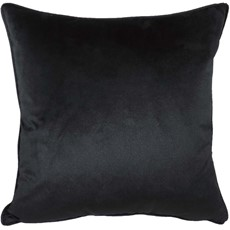 Royal Velvet Square Cushion - Black