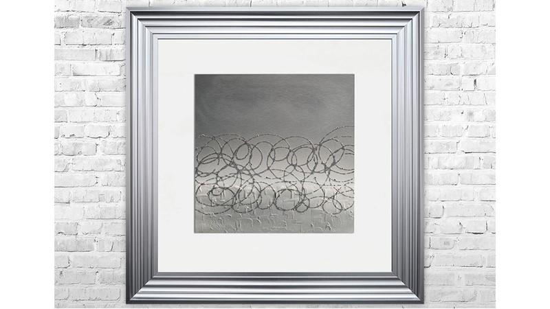 Silver Storm Framed Print