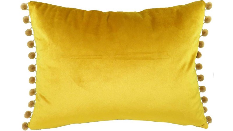 Royal Velvet Rectangle Cushion - Gold