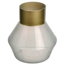 Harper Glass Vase - Gold Trim