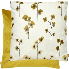 Kai Floral Square Cushion - Chartreuse