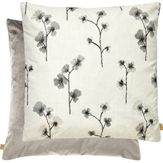 Kai Floral Square Cushion - Grey