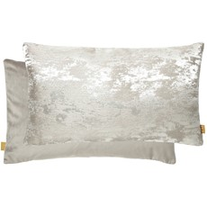 Kai Textured Rectangular Cushion - Platinum
