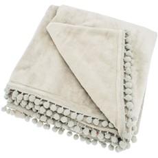 Cashmere Touch Fleece Throw - Linen