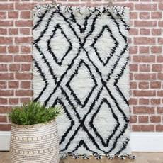 Small Beni Ourain Berber Rug - Black & White
