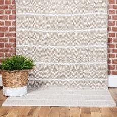 Nordic Sand Rug - White & Natural