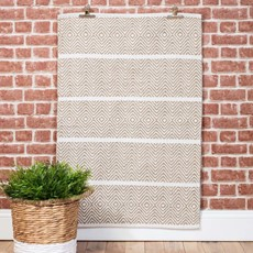 Small Nordic Sand Rug - White & Natural