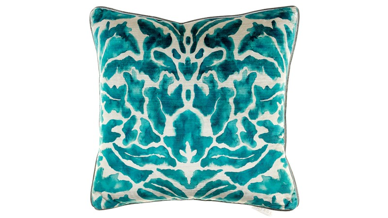 Voyage Nikko Square Cushion - Emerald