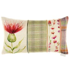 Voyage Cardus Thistle Rectangular Cushion - Patchwork