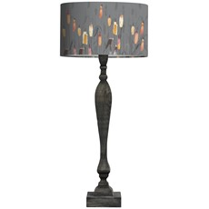 Voyage Louis Noir Table Lamp, Minnie Shade - Reeds Auburn