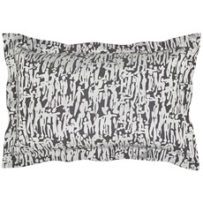 Harlequin People Oxford Pillowcase - Charcoal